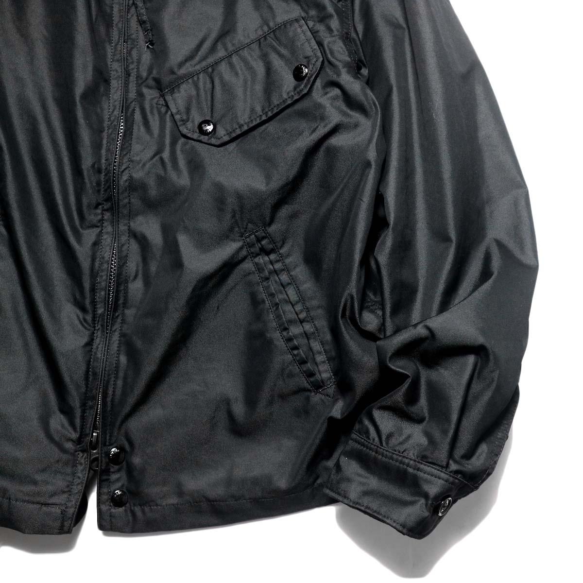 Engineered Garments / Driver Jacket - Pc Iridescent Twill (Black)袖、裾