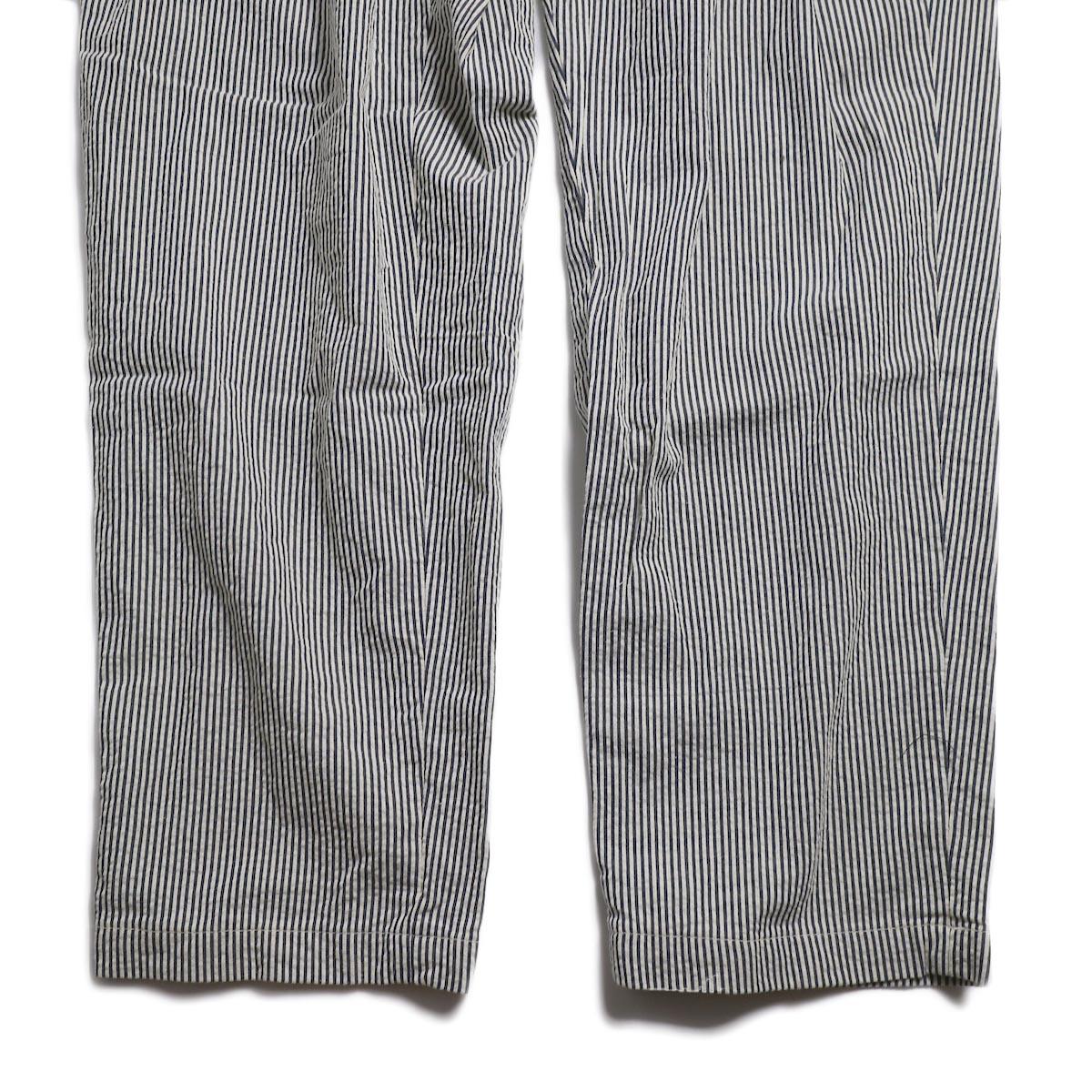 ENGINEERED GARMENTS / Emerson Pant -Seersucker St. (Navy) 裾