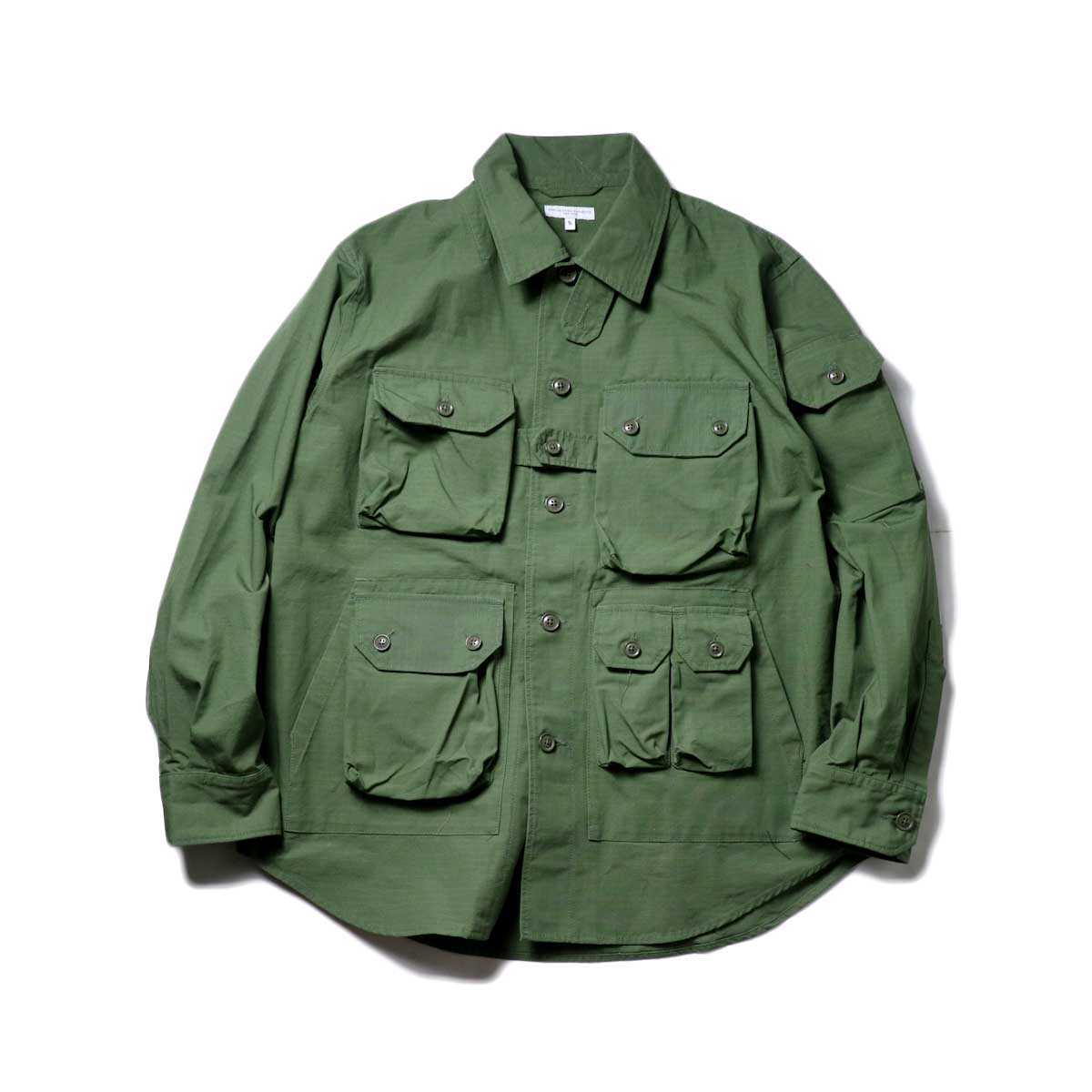 Engineered Garments / Explorer Shirt Jacket -Cotton Ripstop (Olive)正面