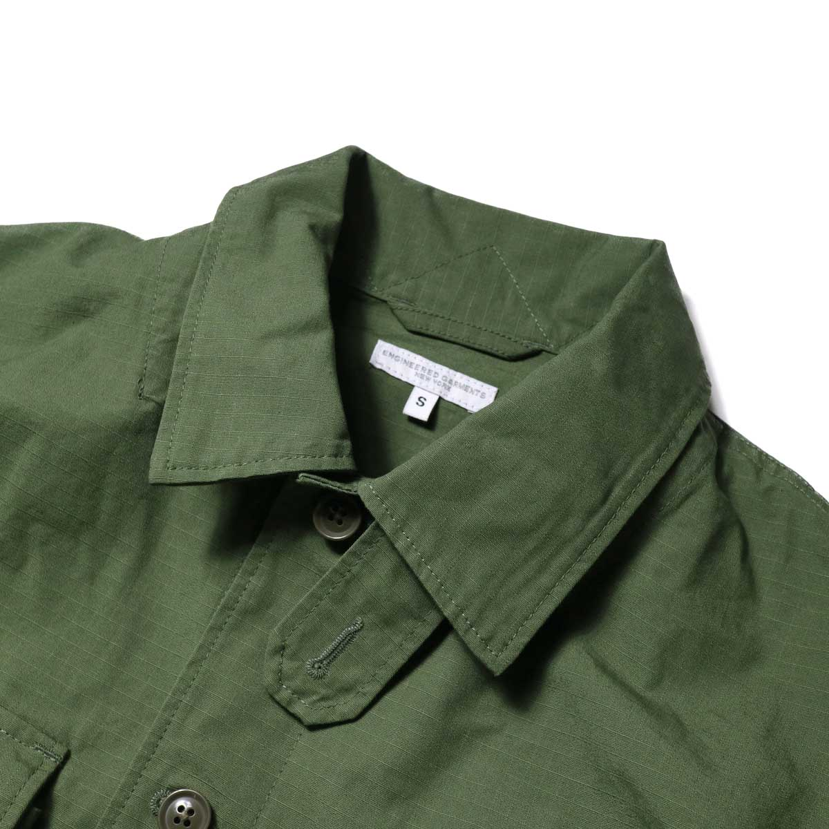 Engineered Garments / Explorer Shirt Jacket -Cotton Ripstop (Olive)襟