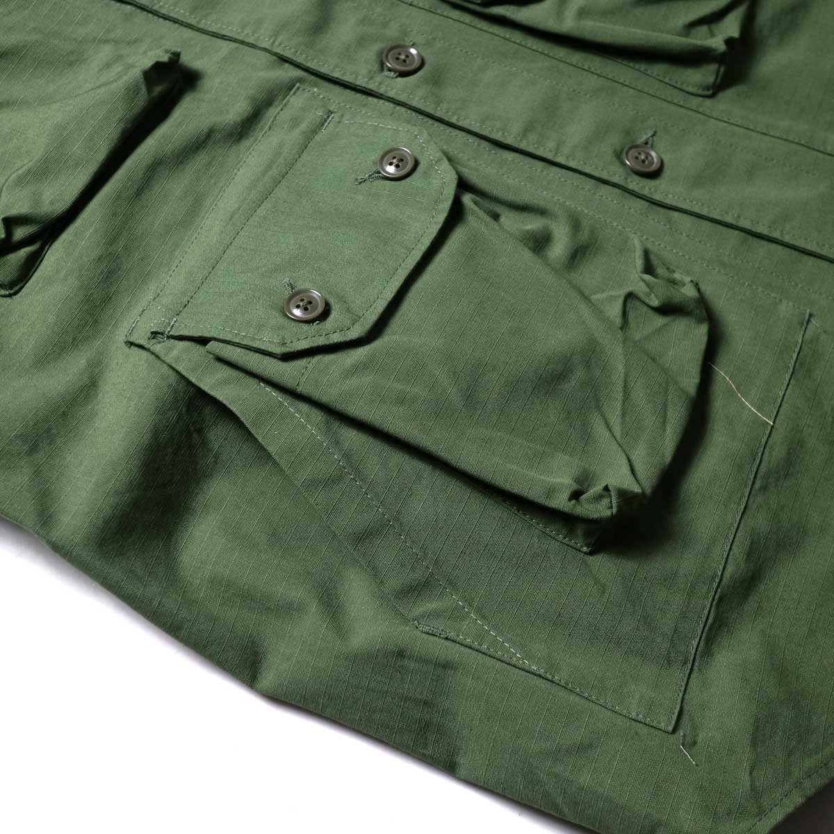 Engineered Garments / Explorer Shirt Jacket -Cotton Ripstop (Olive)ポケット