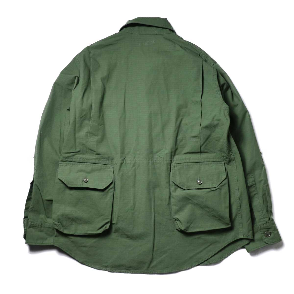 Engineered Garments / Explorer Shirt Jacket -Cotton Ripstop (Olive)背面