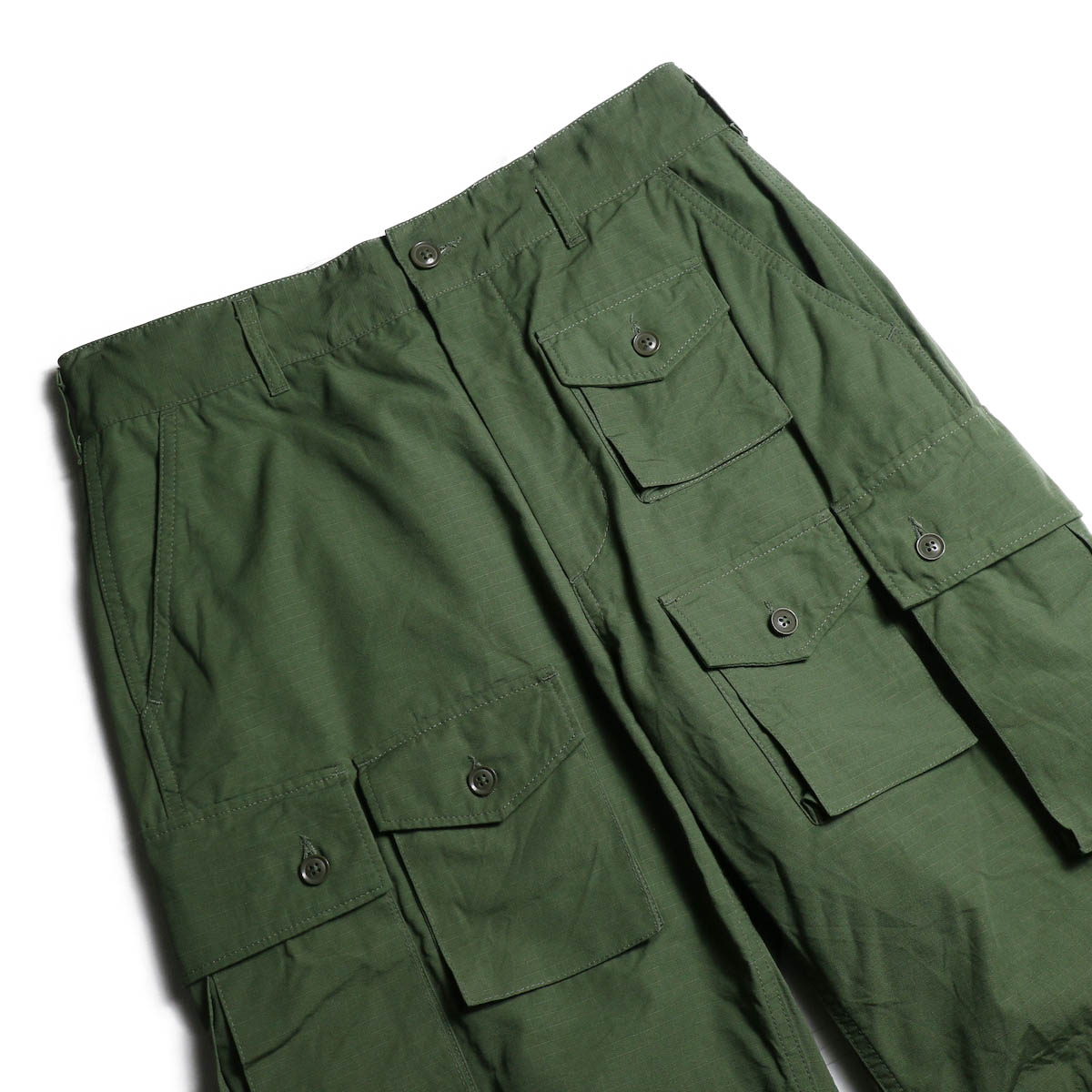 ENGINEERED GARMENTS /  FA Pant -Cotton Ripstop (Olive) ウエスト