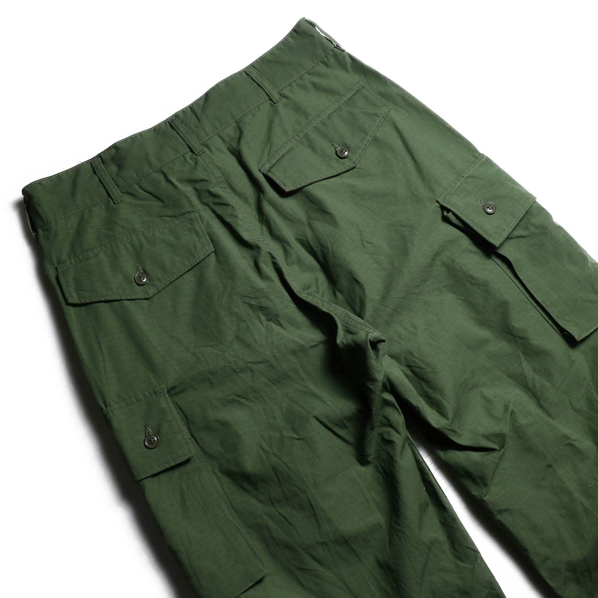 ENGINEERED GARMENTS /  FA Pant -Cotton Ripstop (Olive) ヒップポケット