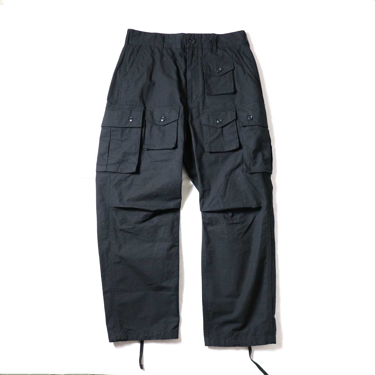 ENGINEERED GARMENTS / FA Pant - Cotton Ripstop (Black)正面