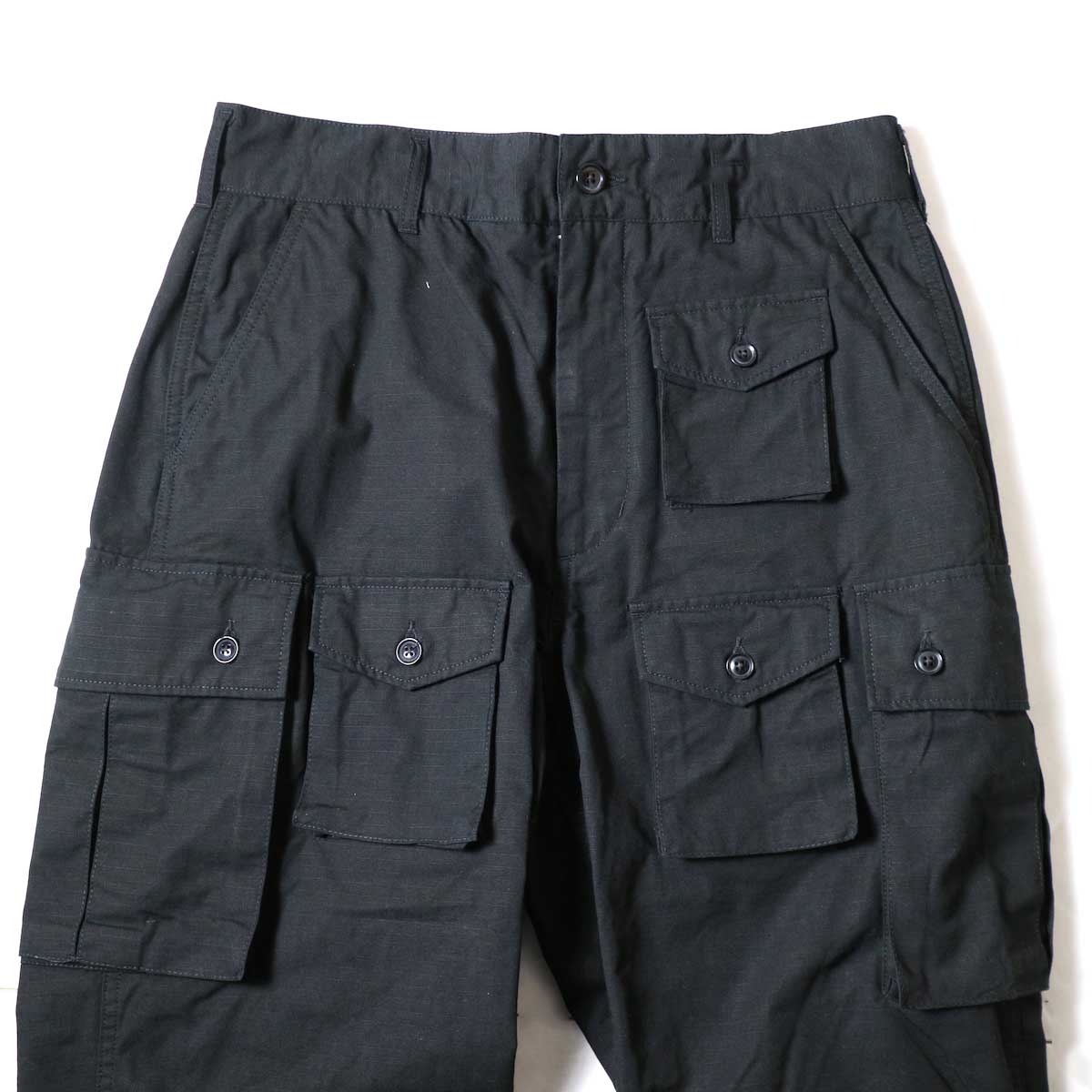 ENGINEERED GARMENTS / FA Pant - Cotton Ripstop (Black)ウエスト