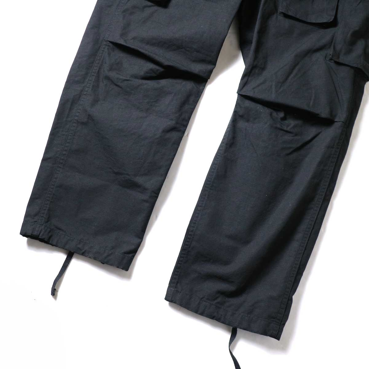 ENGINEERED GARMENTS / FA Pant - Cotton Ripstop (Black)裾