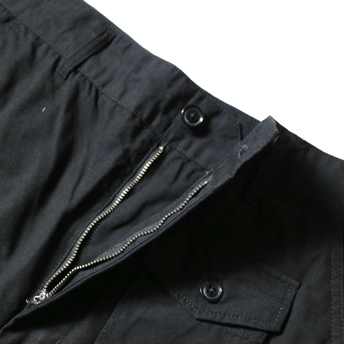 ENGINEERED GARMENTS / FA Pant - Cotton Ripstop (Black)zip