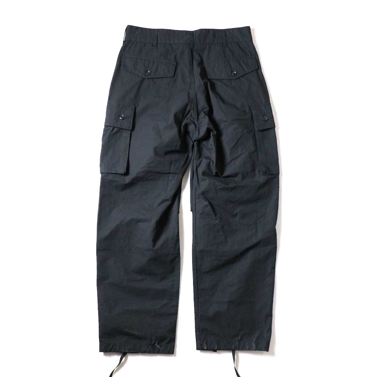 ENGINEERED GARMENTS / FA Pant - Cotton Ripstop (Black)背面