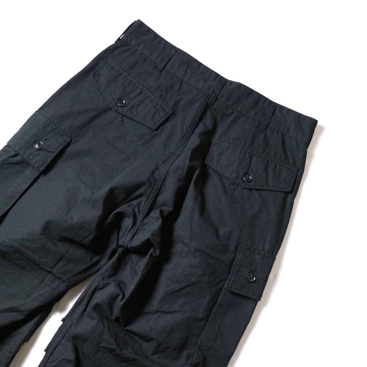 ENGINEERED GARMENTS / FA Pant - Cotton Ripstop (Black)ポケット