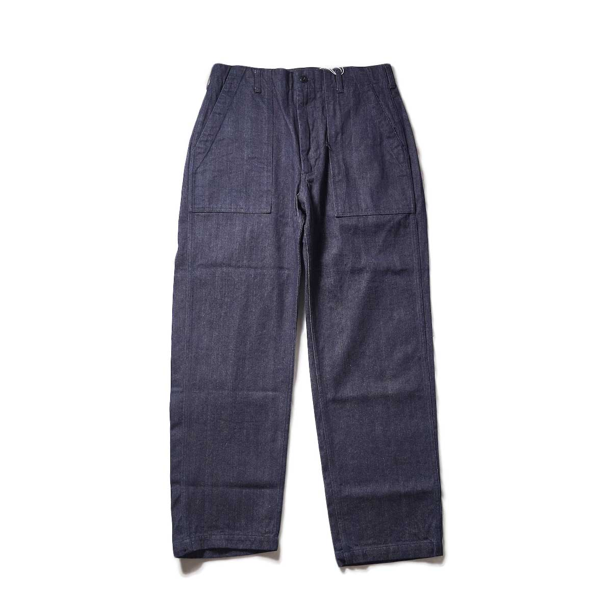 ENGINEERED GARMENTS / FATIGUE PANTS - INDIGO 10oz BROKEN DENIM (Indigo)