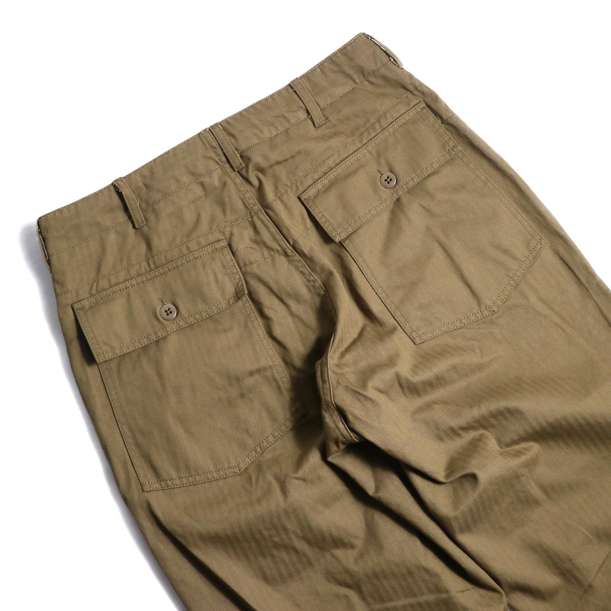 ENGINEERED GARMENTS / Fatigue Pant-HB Twill (Brown)ヒップポケット