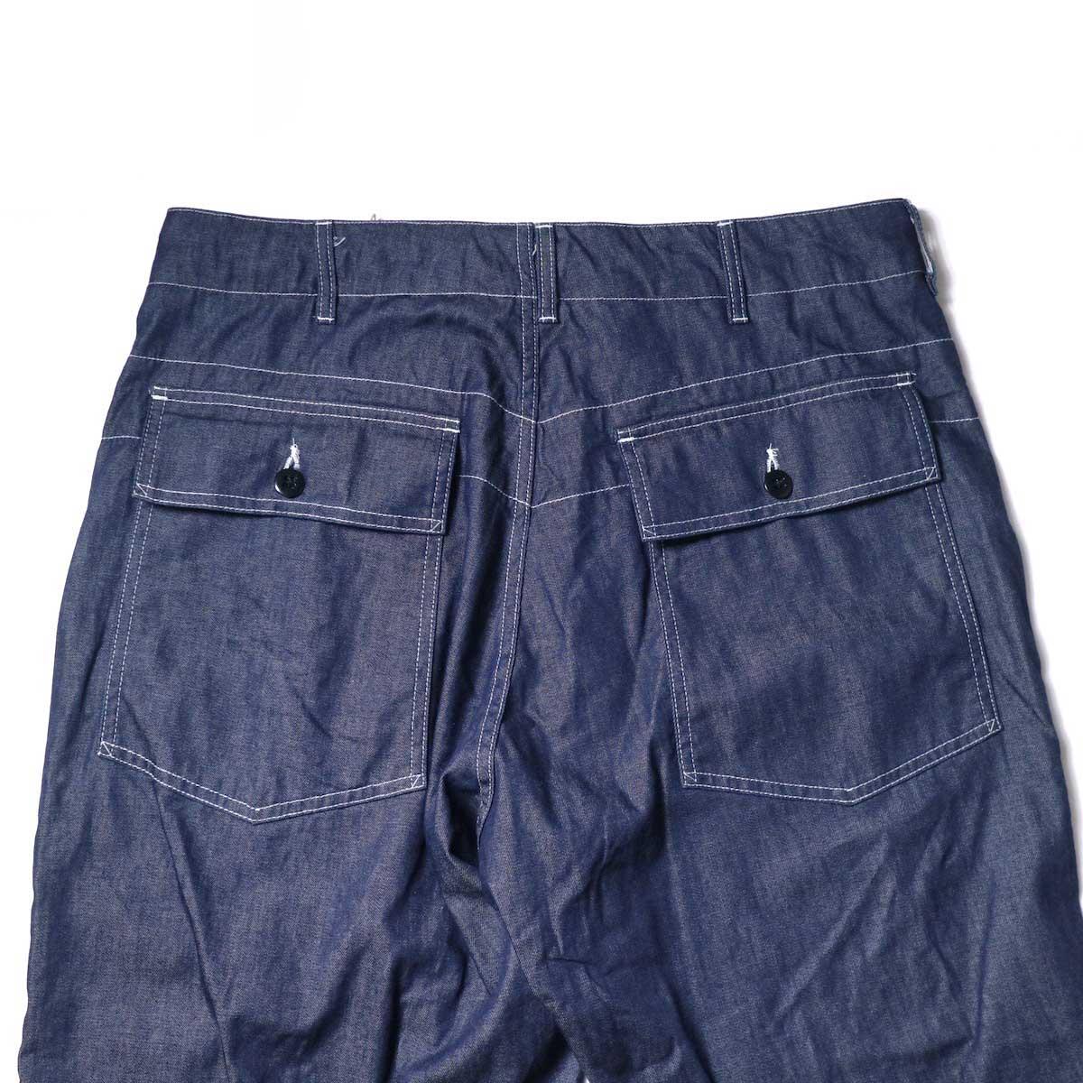 Engineered Garments / Fatigue Pant - 8oz Cone Denim (Indigo)ヒップポケット