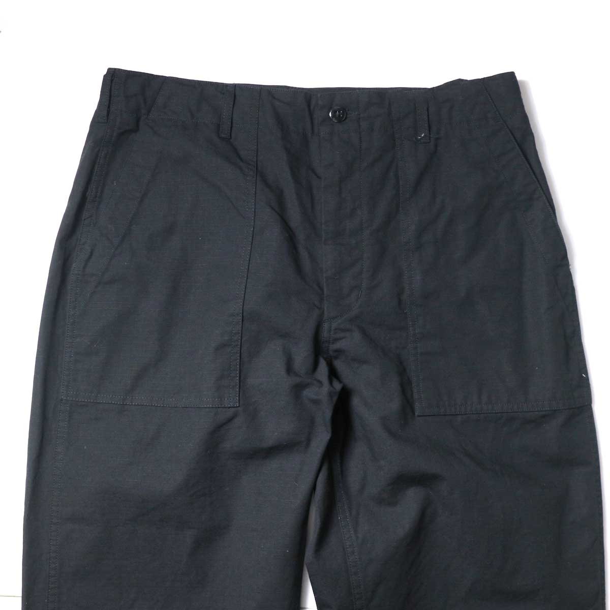 Engineered Garments / Fatigue Pant - Cotton Ripstop (Black)ウエスト