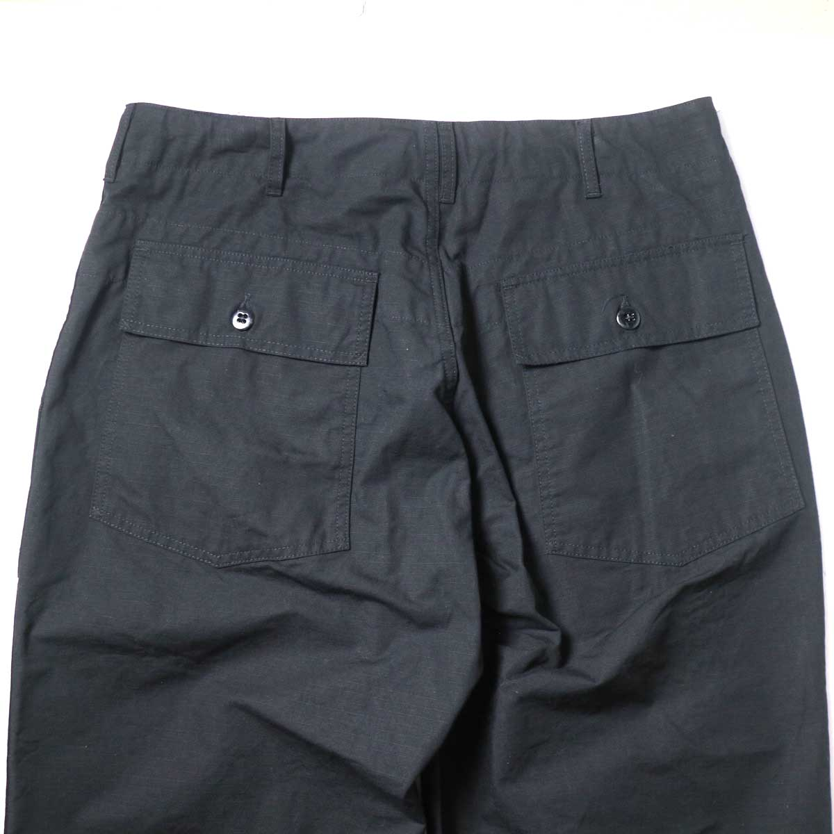 Engineered Garments / Fatigue Pant - Cotton Ripstop (Black)ヒップポケット