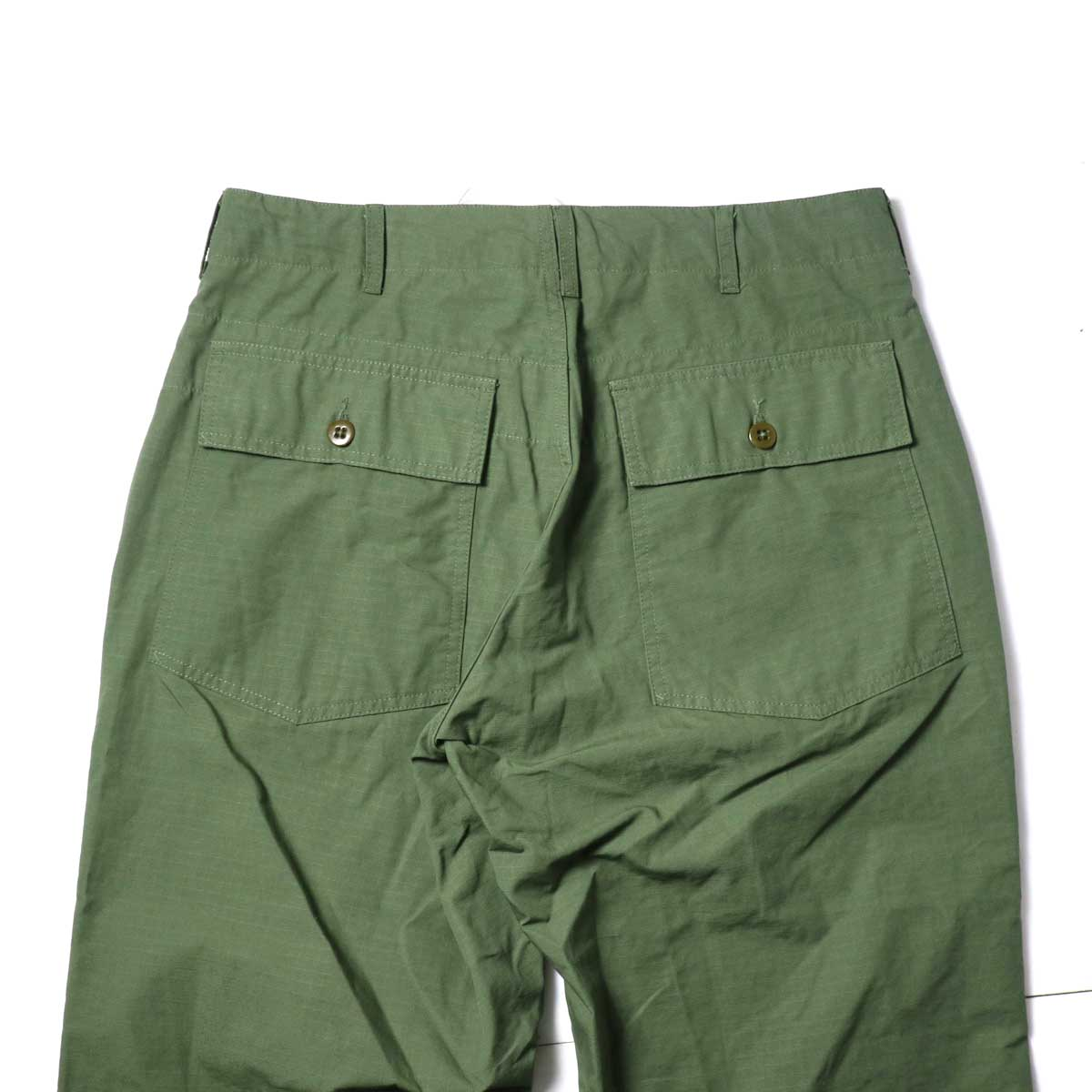 Engineered Garments / Fatigue Pant - Cotton Ripstop (Olive)ヒップポケット