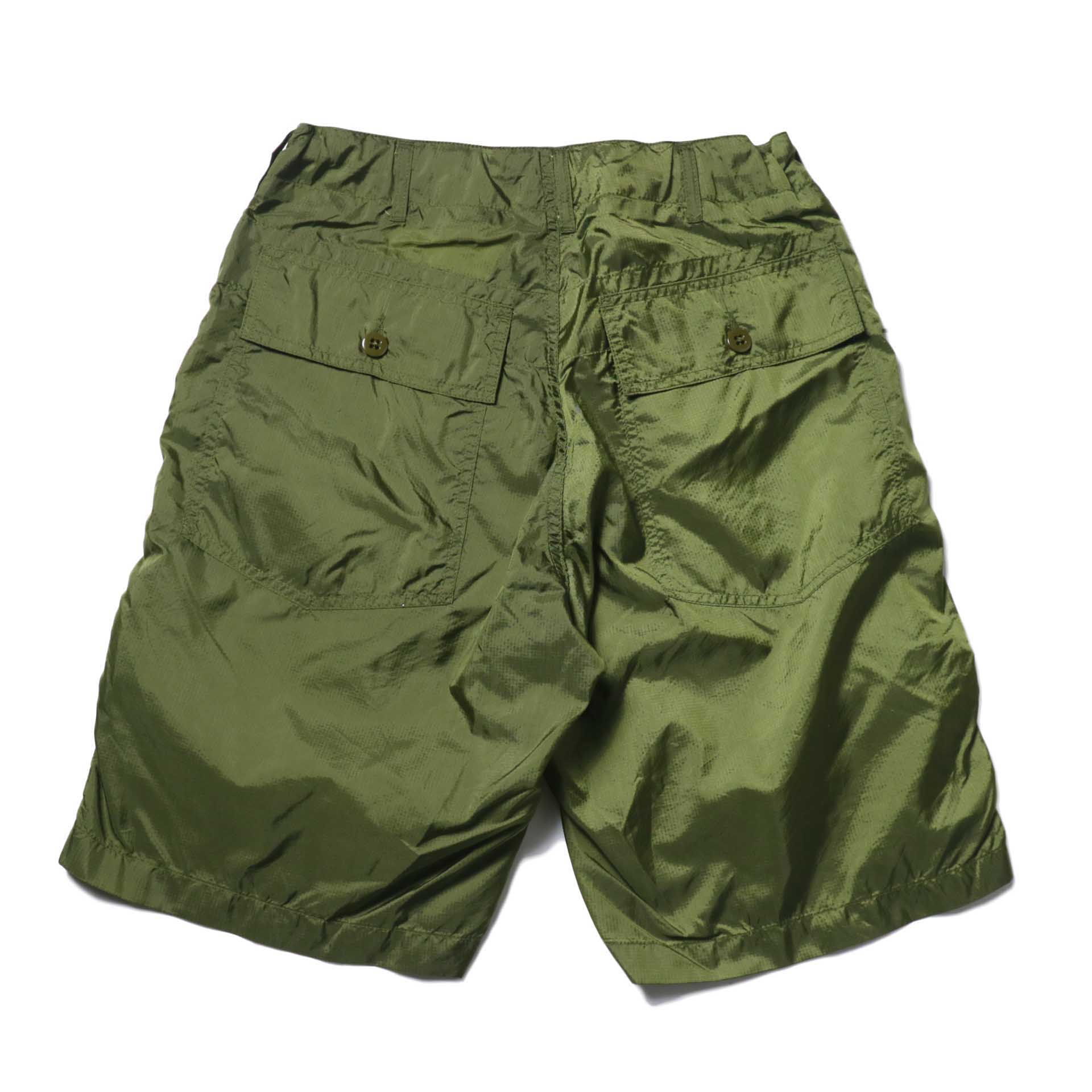 Engineered Garments / Fatigue Short -Micro Ripstop (Olive)背面