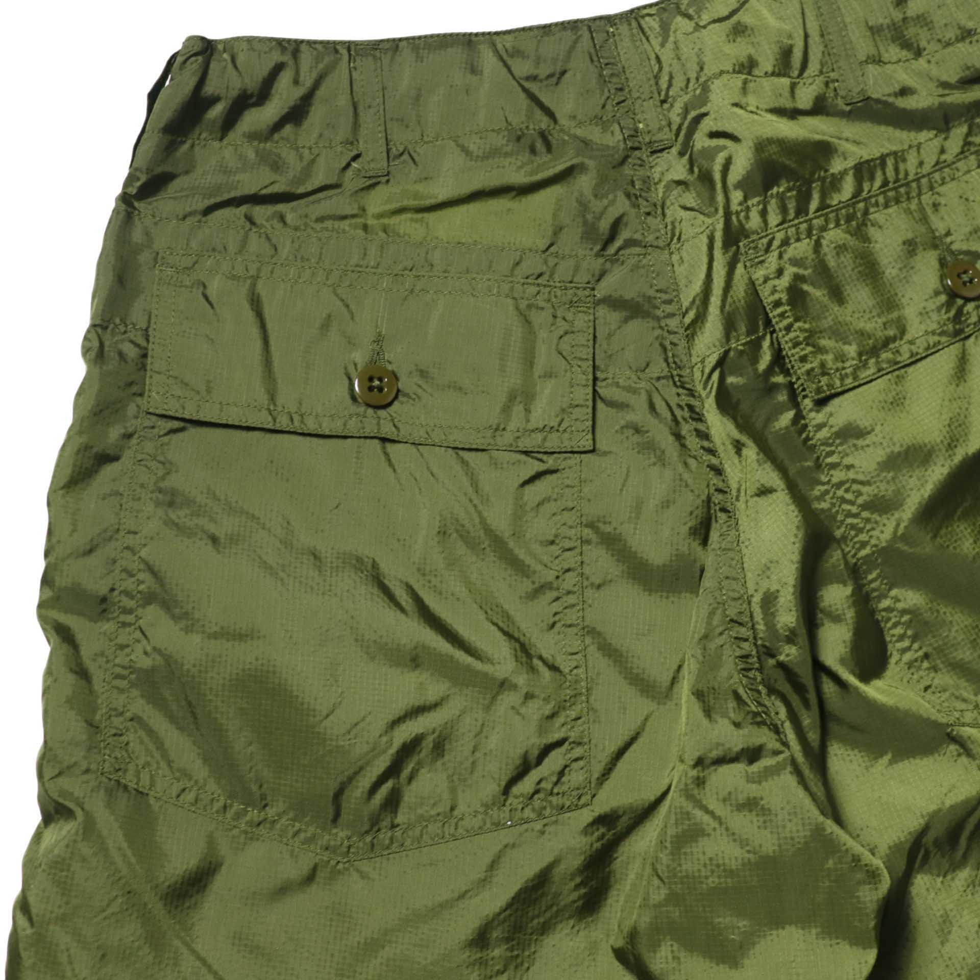 Engineered Garments / Fatigue Short -Micro Ripstop (Olive)ヒップポケット
