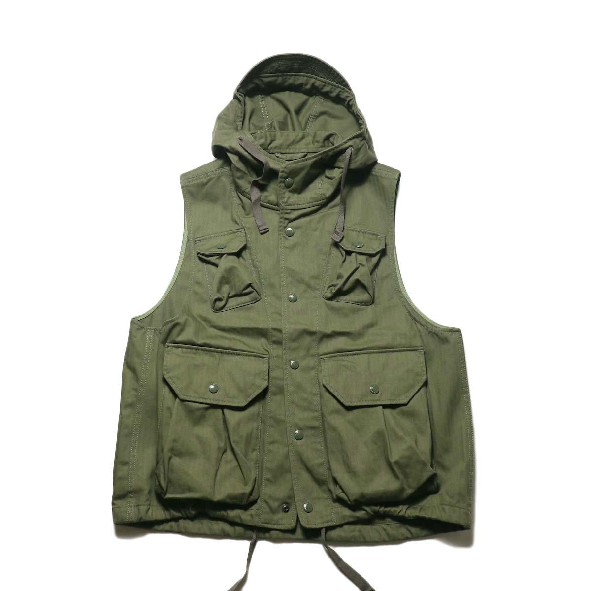Engineered Garments / Field Vest -HB Twill (Olive)