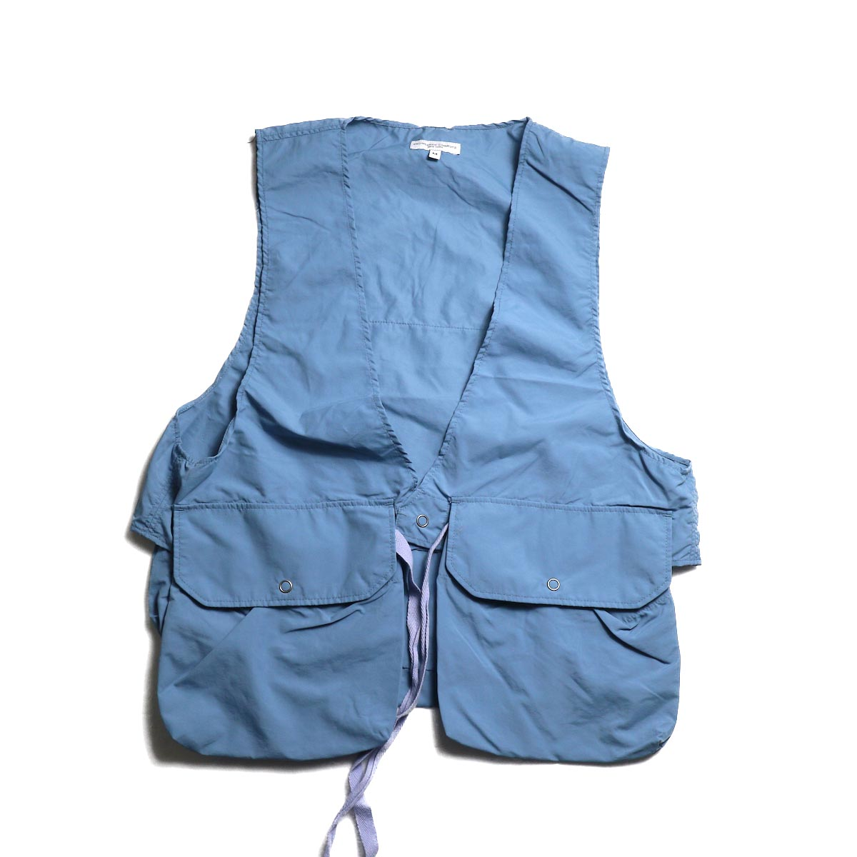 ENGINEERED GARMENTS / Fowl Vest -Acrylic Coated Nylon Taffeta (Lt.Blue)