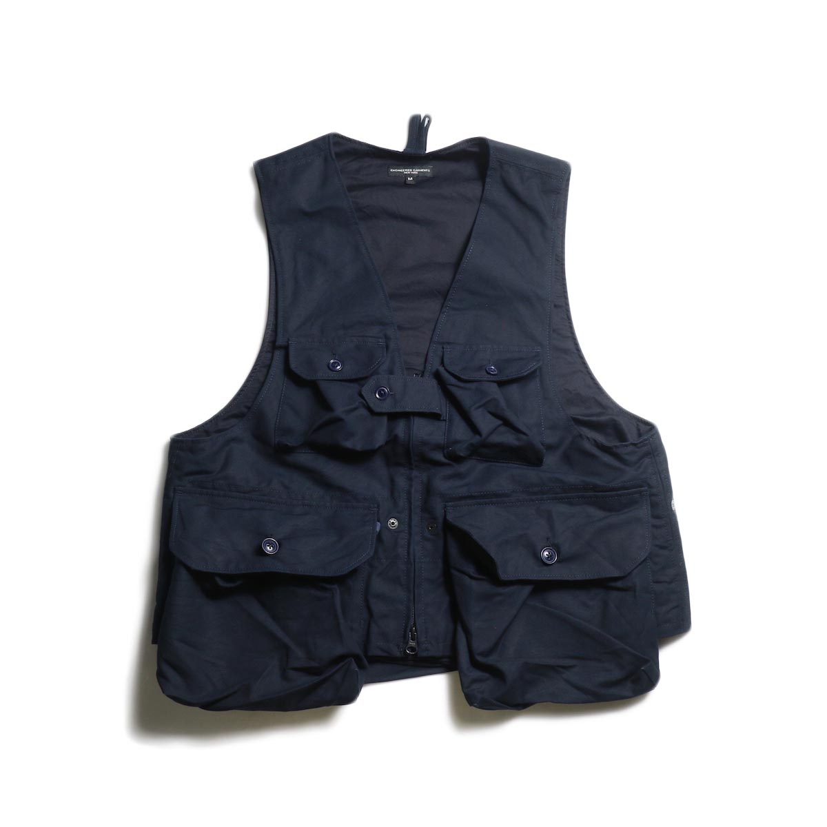 Engineered Garments / Game Vest -Double Cloth (Navy)