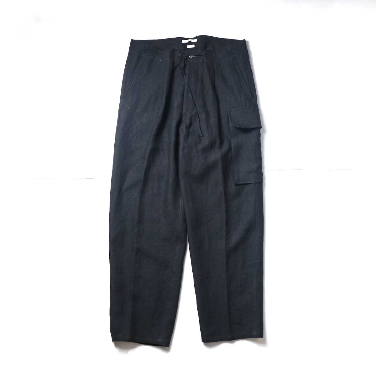 Blurhms / Wash Linen 5P Easy Pants (Black)