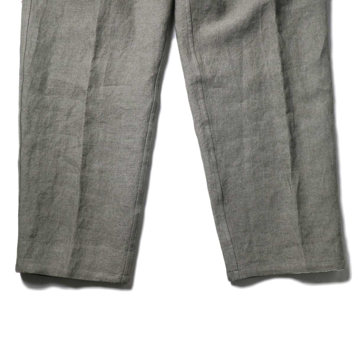 Blurhms / Wash Linen 5P Easy Pants (KhakiGrey)裾