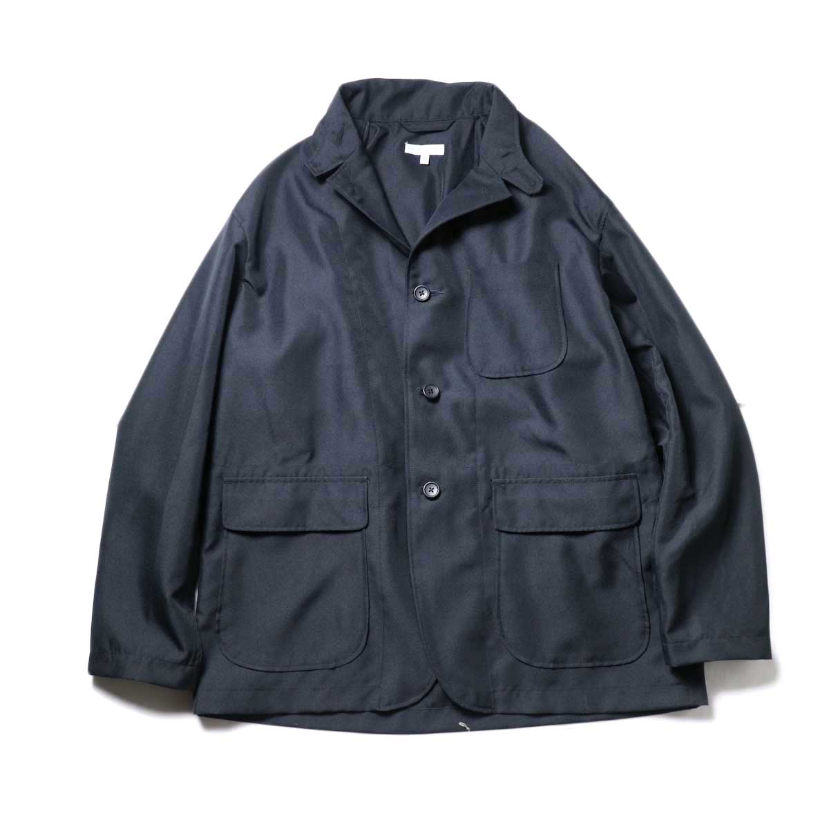 Engineered Garments / Loiter Jacket -Polyester Twill (Black)正面