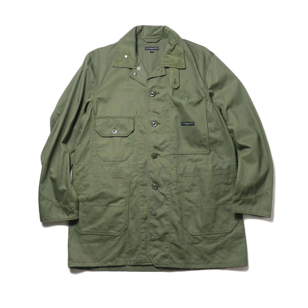 Engineered Garments / Long Logger Jacket -Hb Twill (Olive)