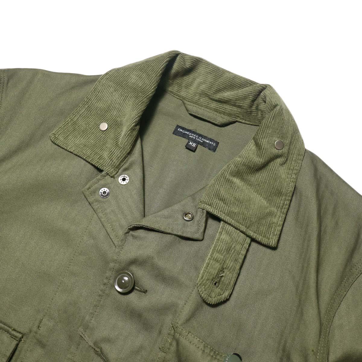 Engineered Garments / Long Logger Jacket -Hb Twill (Olive)襟