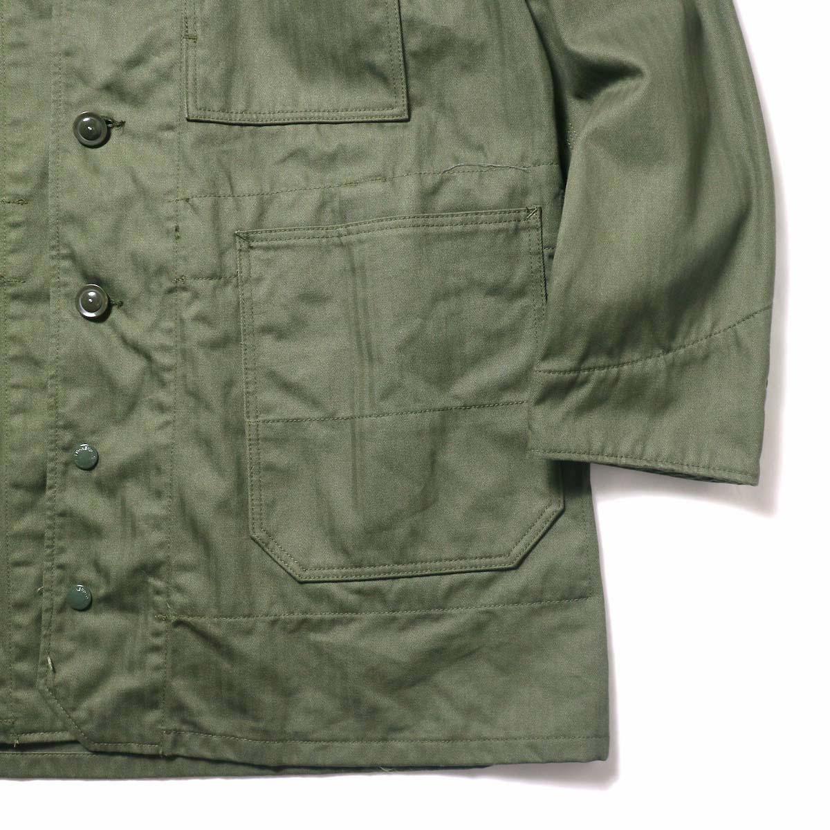 Engineered Garments / Long Logger Jacket -Hb Twill (Olive)袖