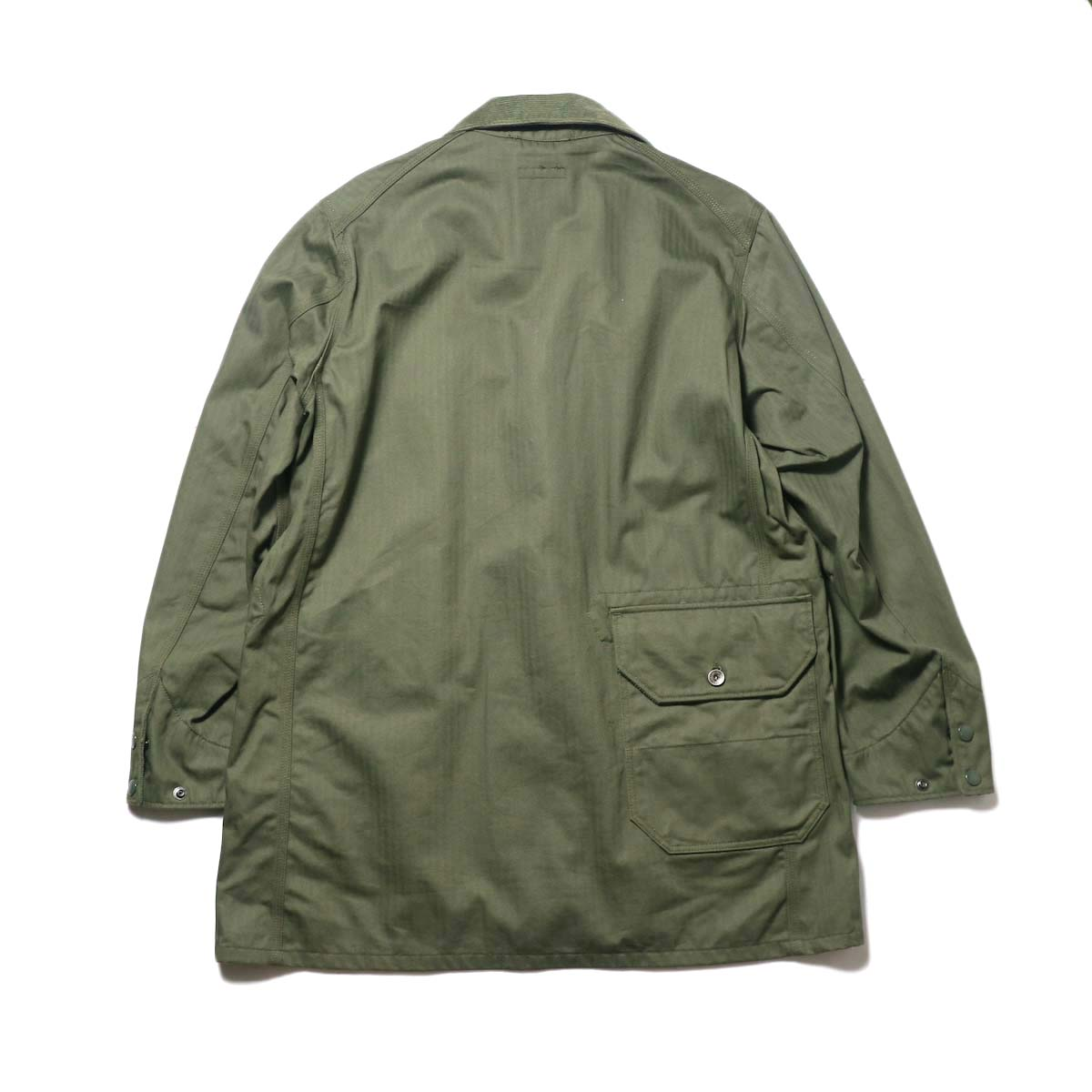 Engineered Garments / Long Logger Jacket -Hb Twill (Olive)背面