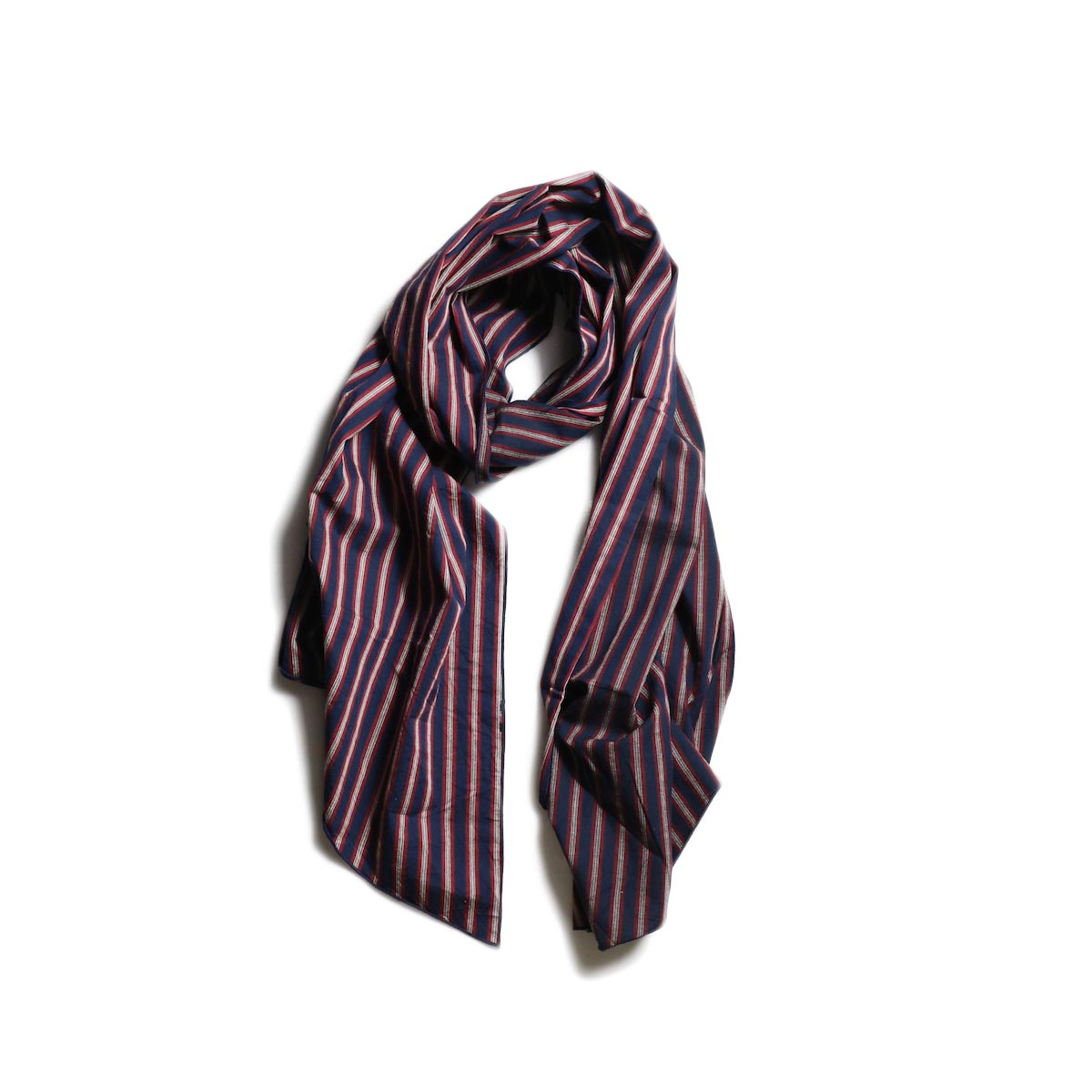 Engineered Garments / Long Scarf -Regimental St. (Navy/Red/White)