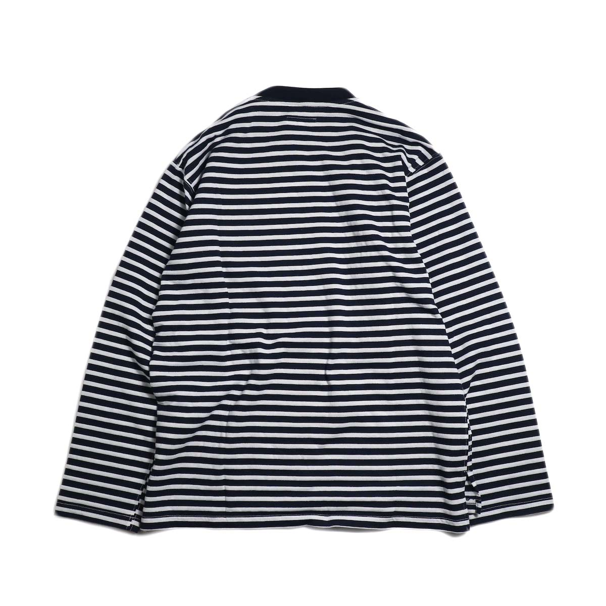 ENGINEERED GARMENTS / Long Sleeve Crew -Pc St. Jersey (Navy/White) 背面