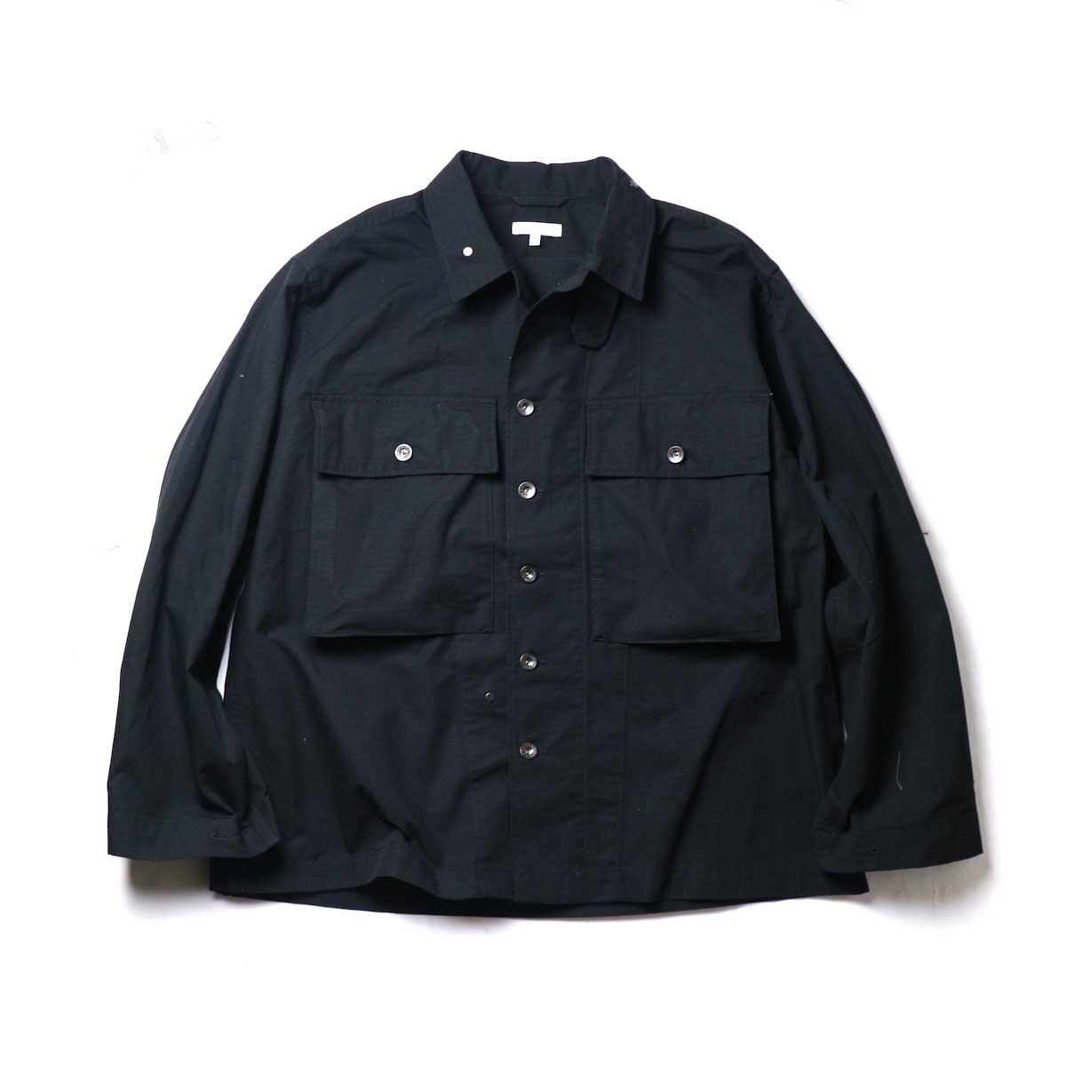 Engineered Garments / M43/2 Shirt Jacket -Cotton Ripstop (Black)