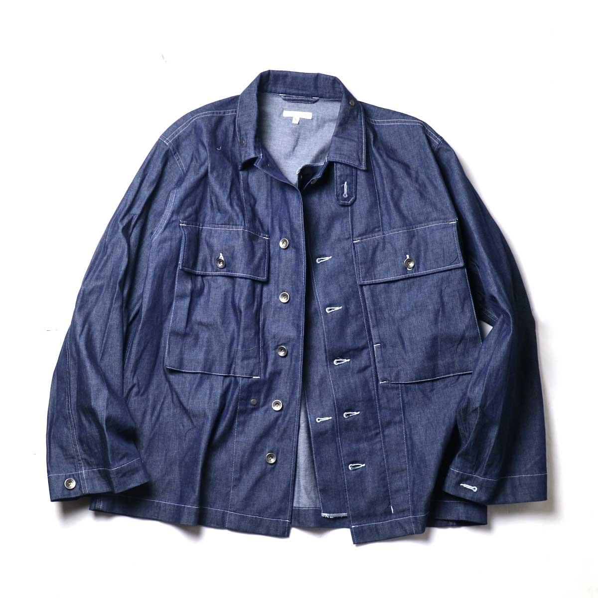 Engineered Garments / M43/2 Shirt Jacket -8oz Cone Denim(Indigo)