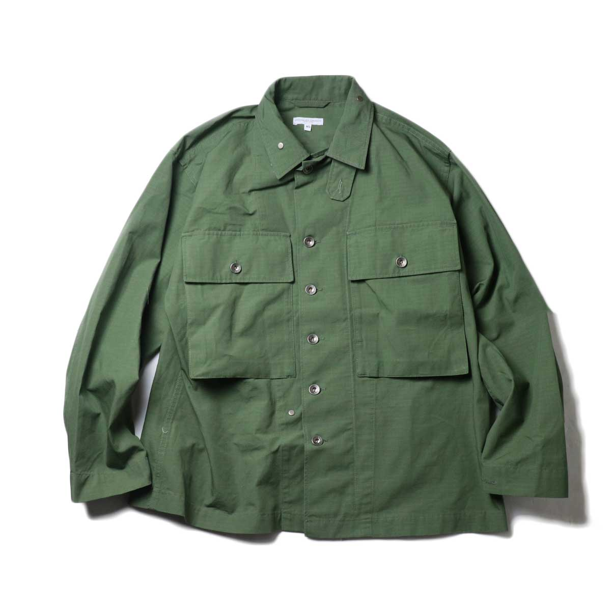 Engineered Garments / M43/2 Shirt Jacket -Cotton Ripstop (Olive)