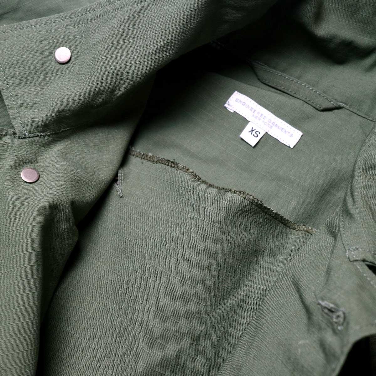 Engineered Garments / M43/2 Shirt Jacket -Cotton Ripstop (Olive)フラップ