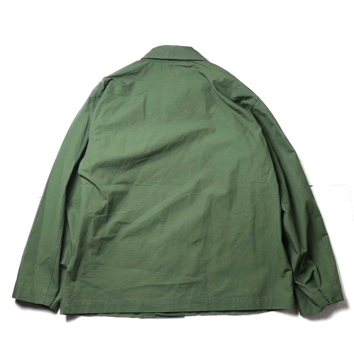 Engineered Garments / M43/2 Shirt Jacket -Cotton Ripstop (Olive)背面