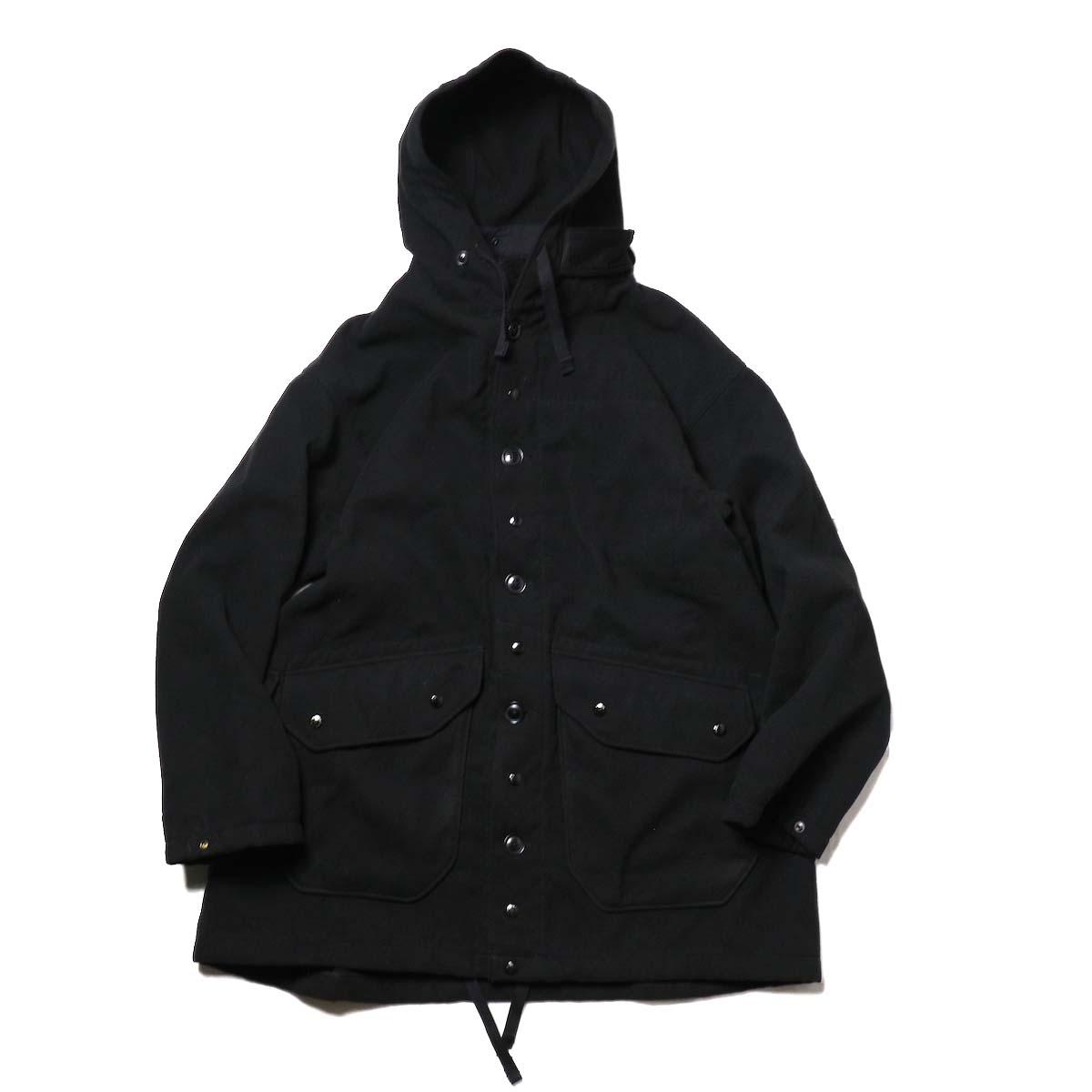 Engineered Garments / Madison Parka - Fake Melton (Black)