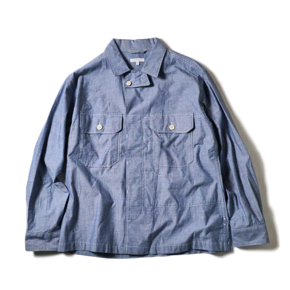 Engineered Garments / MC Shirt Jacket -Cotton Chambray (Blue)正面
