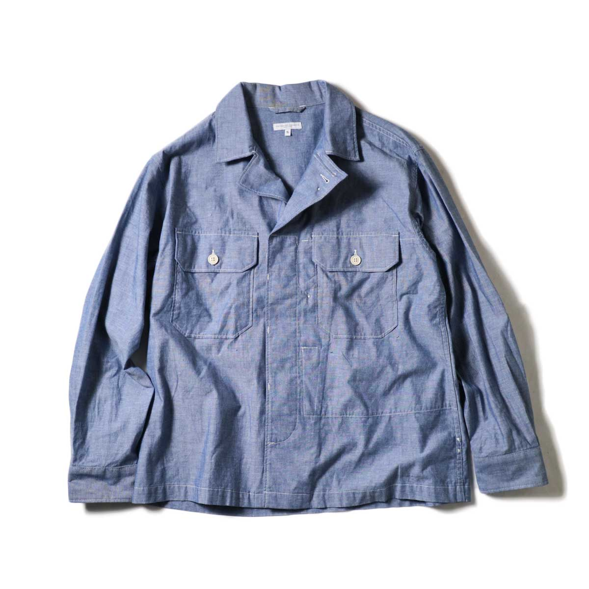 Engineered Garments / MC Shirt Jacket -Cotton Chambray (Blue)フラップ開
