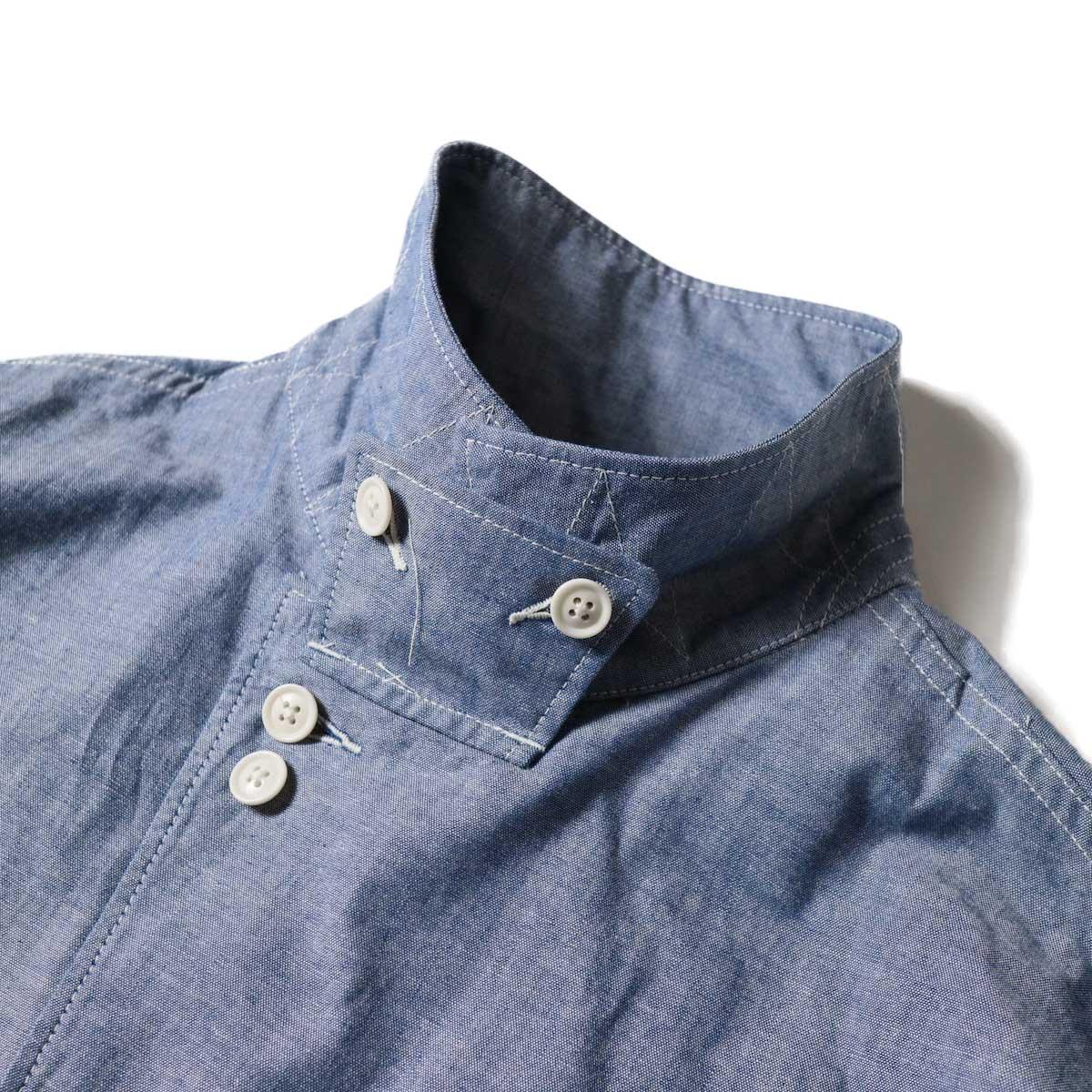 Engineered Garments / MC Shirt Jacket -Cotton Chambray (Blue)襟