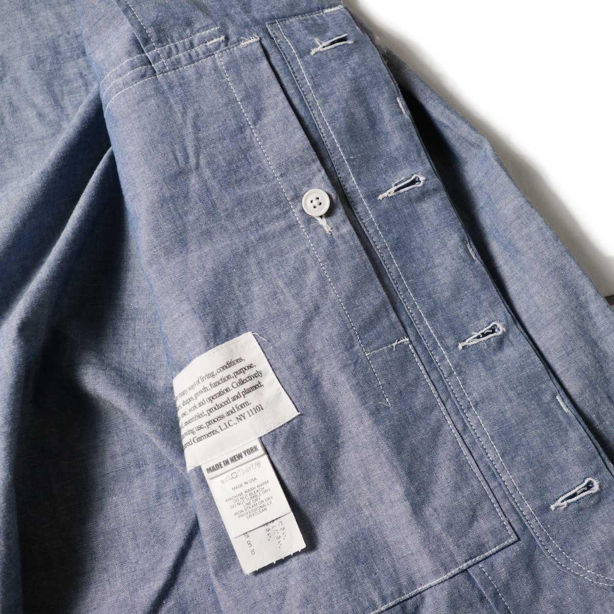 Engineered Garments / MC Shirt Jacket -Cotton Chambray (Blue)内ポケット