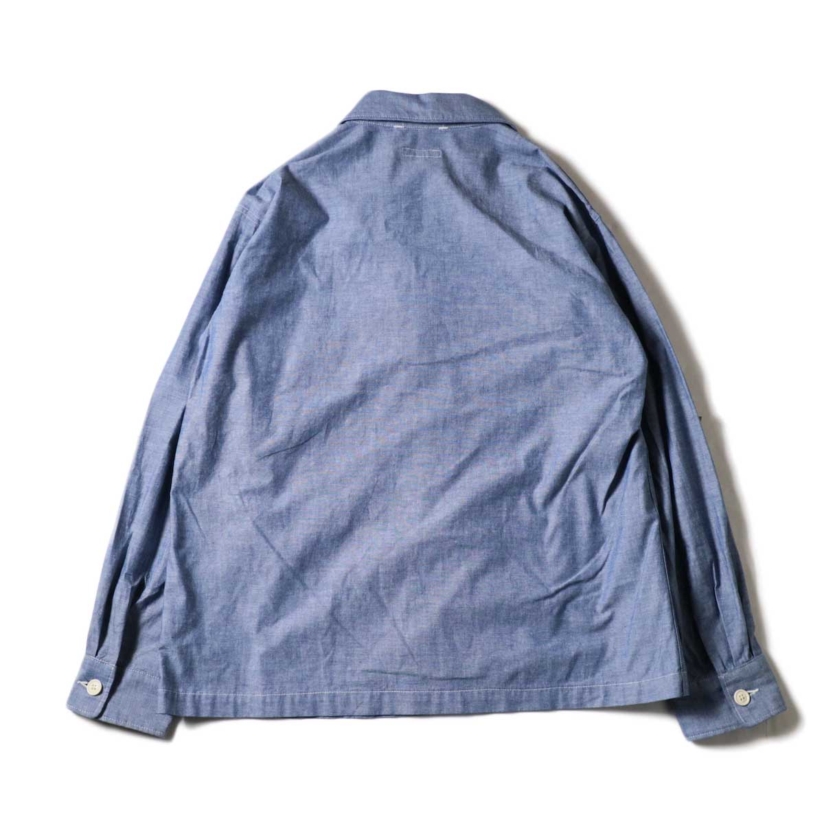 Engineered Garments / MC Shirt Jacket -Cotton Chambray (Blue)背面