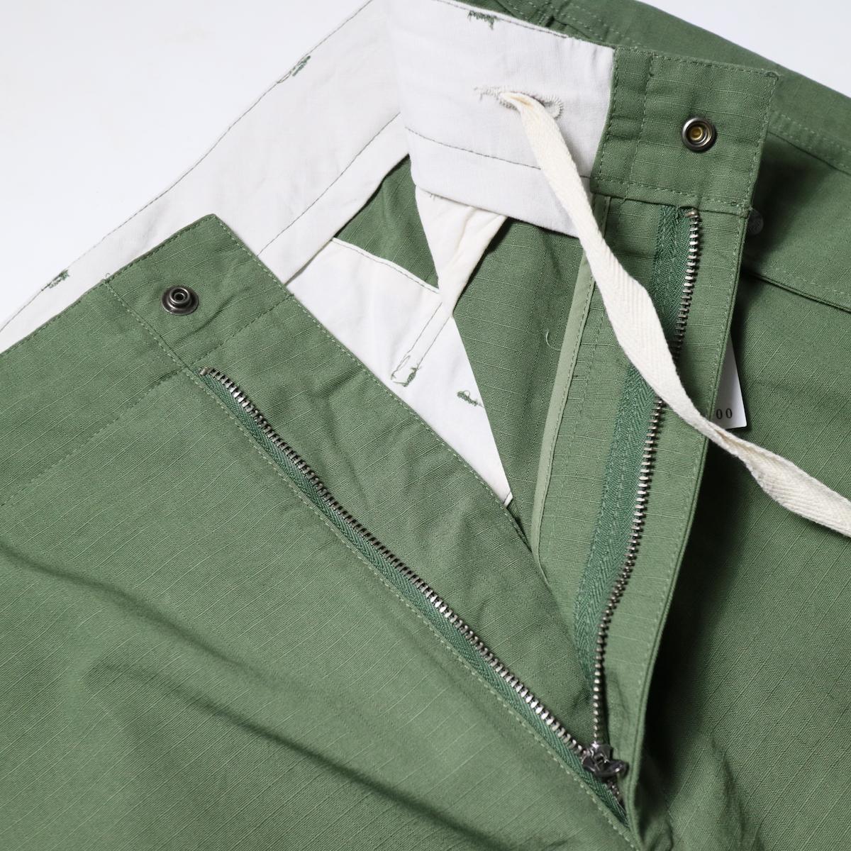 Engineered Garments / Over Pant -Cotton Ripstop zip