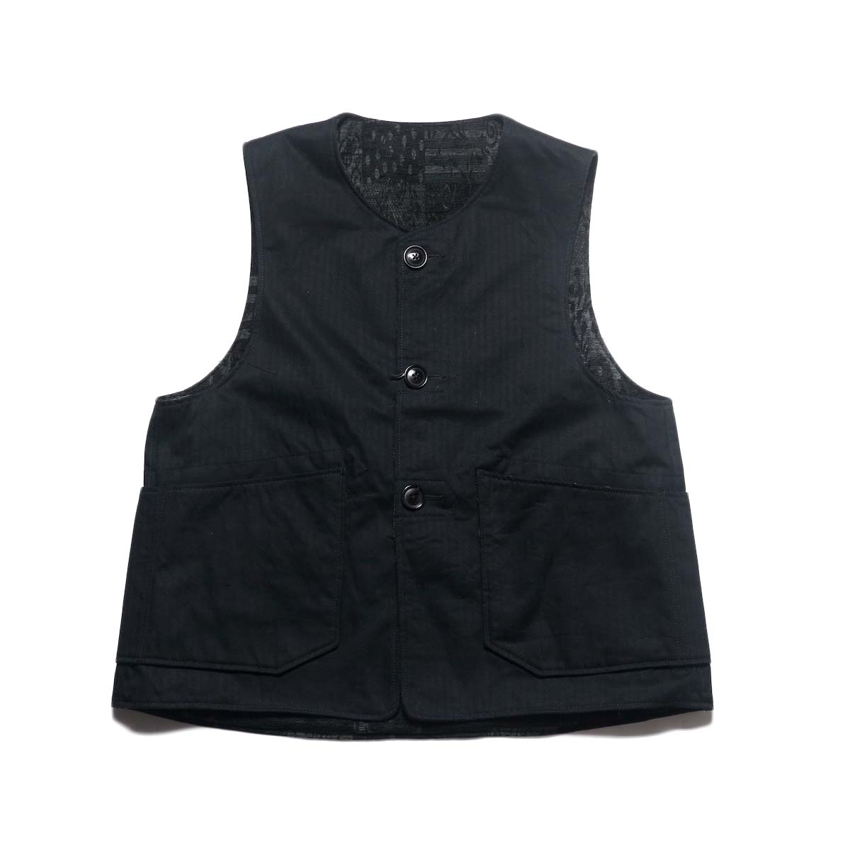Engineered Garments / Over Vest -HB Twill (Black)