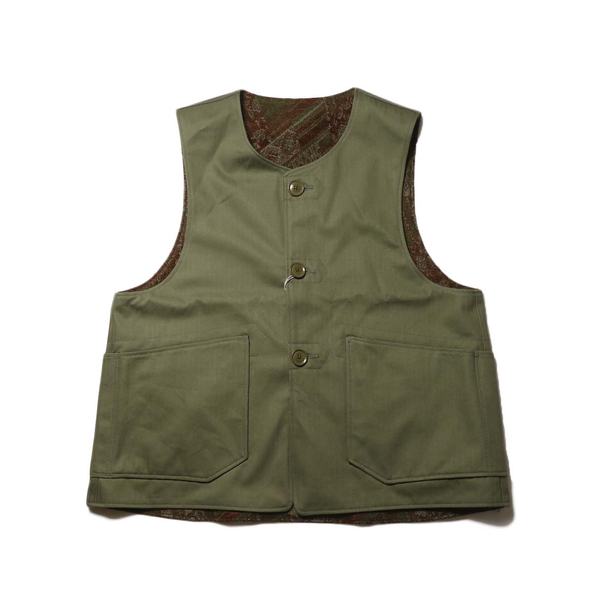 Engineered Garments / Over Vest -HB Twill (Olive)