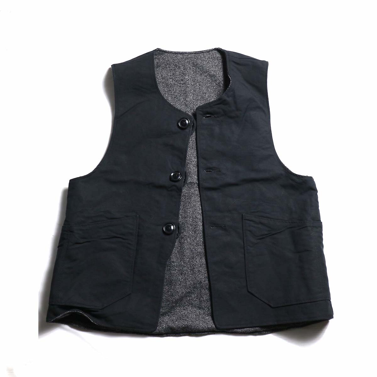 Engineered Garments / Over Vest - Homespun / Cotton Double Cloth