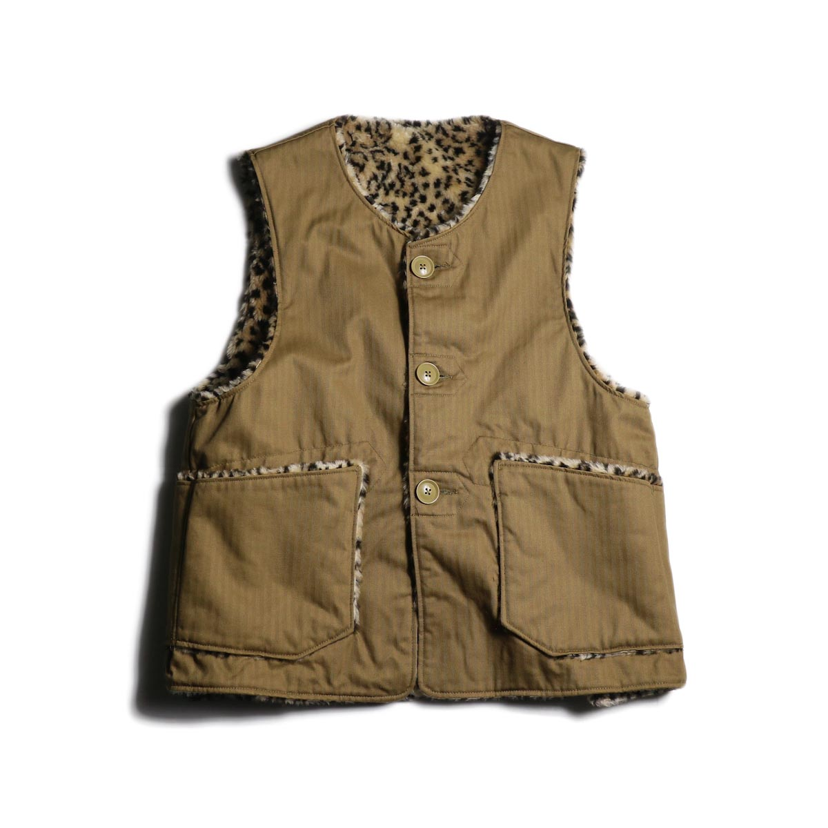 Engineered Garments / Over Vest -Cotton HB Twill (Khaki)